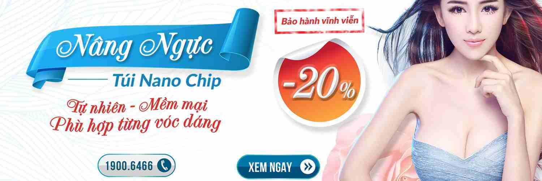 Nâng ngực túi độn Nano Chip OFF 20%