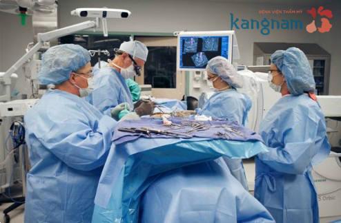 Tại Bệnh viện thẩm mỹ Kangnam quá trình nâng ngực nội soi được hỗ trợ bằng thiết bị hiện đại1