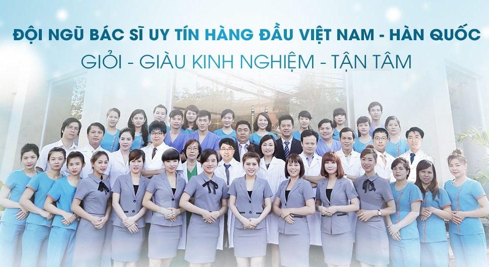 Đội ngũ bác sĩ tại BVTM Kangnam