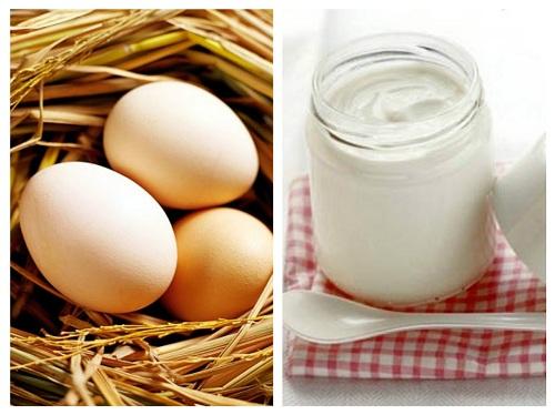 Kem tự chế từ sữa chua và trứng gà